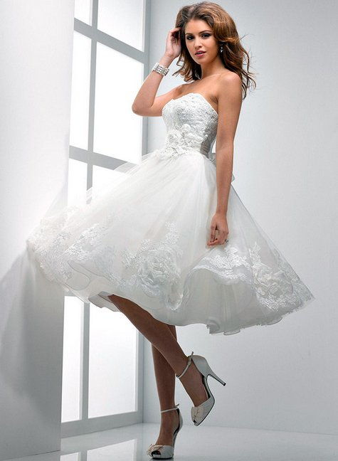 Коротенькие платьица для свадьбы