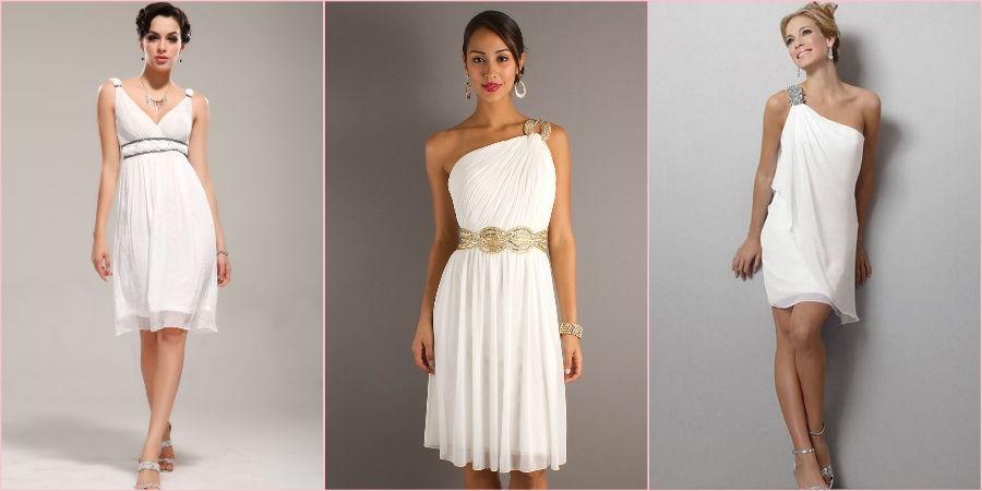 Античные платья могут быть и короткими