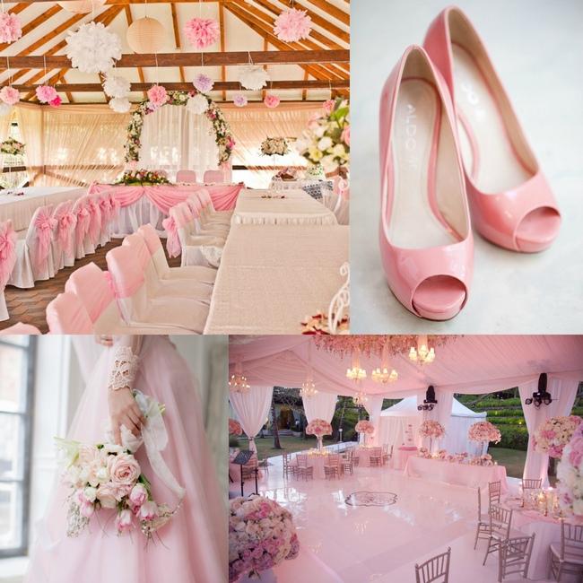 розовый кварц образцы свадьбы оформление