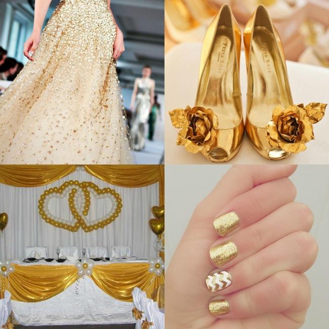 ваша свадьба в золотом цвете фото