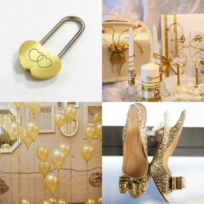 оформление свадьбы в золотом цвете фото