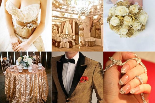 это свадьба в золотом стиле