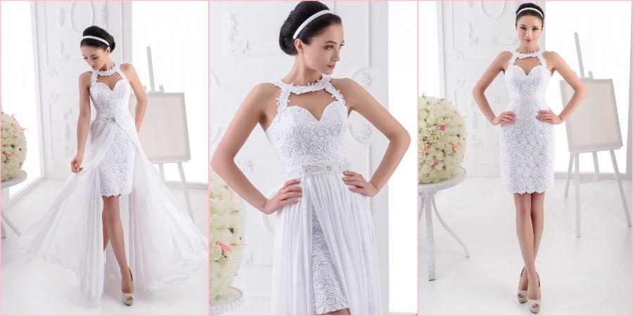 Белоснежное платье состоящее из двух частей