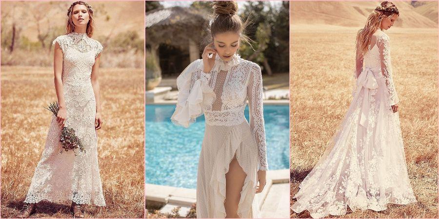 Для бохо характерны многослойные юбки и кружево