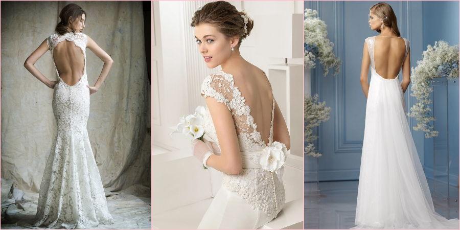 Голая спина добавит грациозности невесте