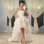 Свадебное платье спереди короткое сзади длинное