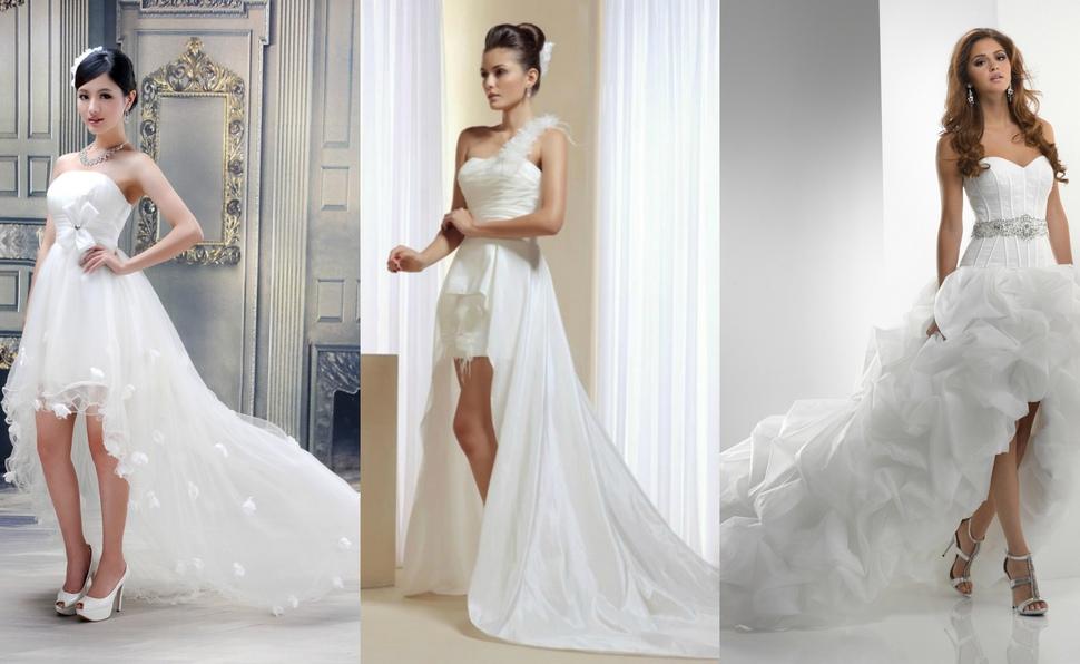 Платье ультрамодное длинное сзади короткое спереди шлейф