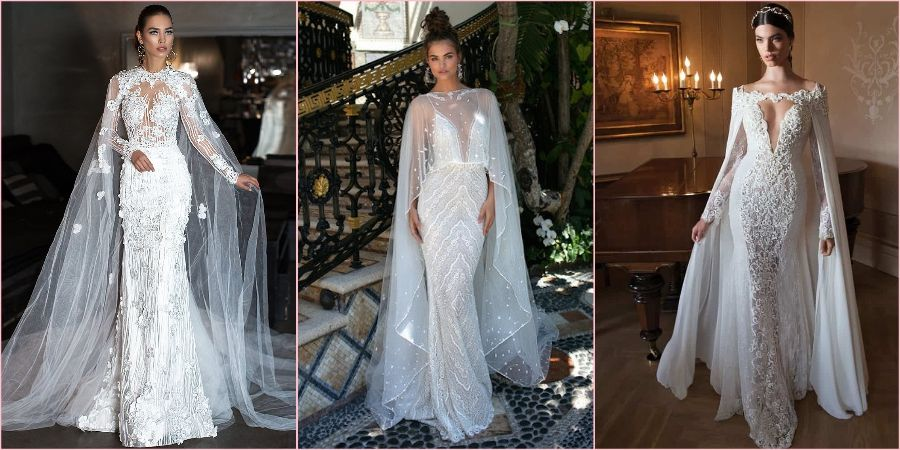 Прозрачные платьица в сочетании с накидками ультрамодная фишка