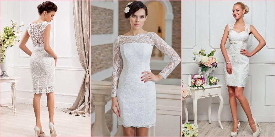 Короткие кружевные наряды прекрасное решение для летней свадьбы