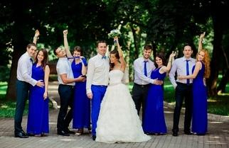 Шикарная пышная свадьба в цветовой гамме