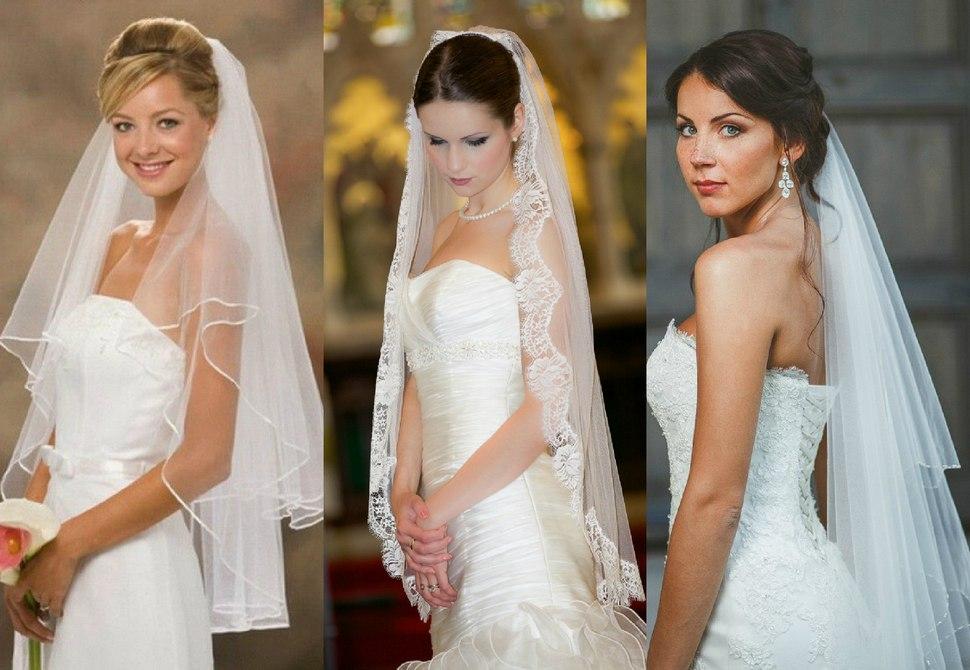 Средняя длинна свадебной фаты для невесты