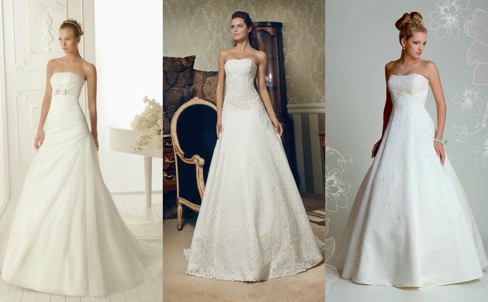 Свадебные платья а силуэта варианты