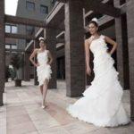 Свадебное платье трансформер с отстегивающейся юбкой и верхом