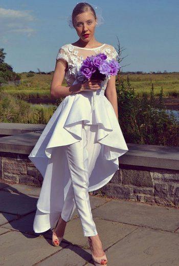 Женский костюм на свадьбу оригинально и интересно