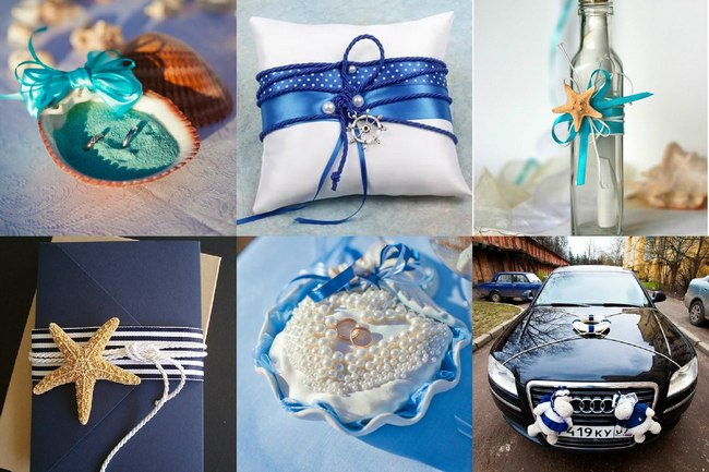 Интересный декор для свадьбы морской тематики