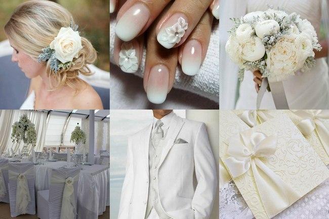 Элементы оформление свадьбы в белом цвете