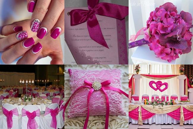 Фото оформления свадьбы цвета фуксия