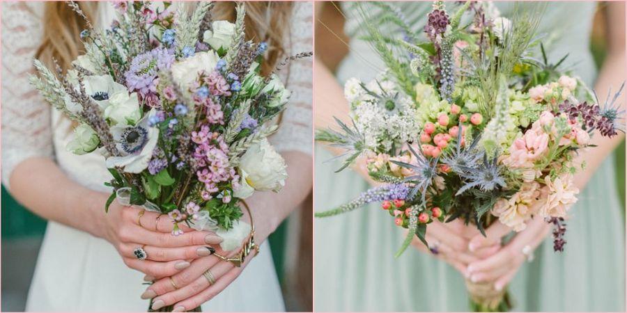 Цветы в букет подбирайте полевые и садовые