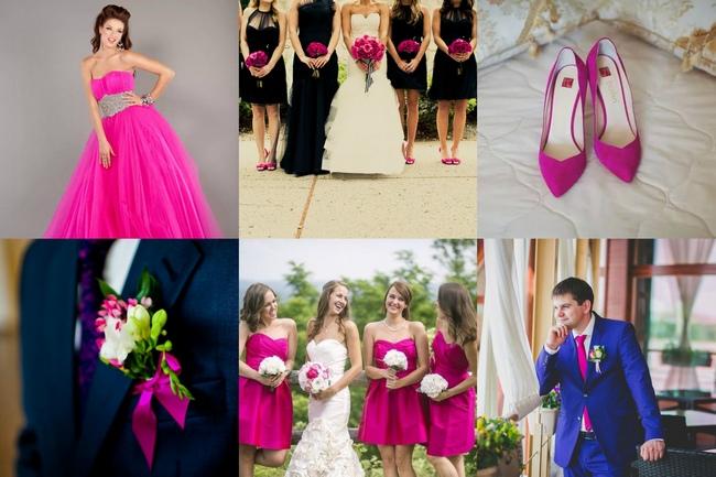 Оформление свадьбы в пурпурном цвете