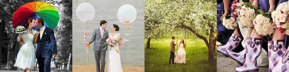 Свадебная фотосессия весной с аксессуарами