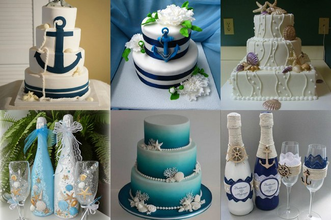 Торт в морском стиле свадьбы завершающий атрибут
