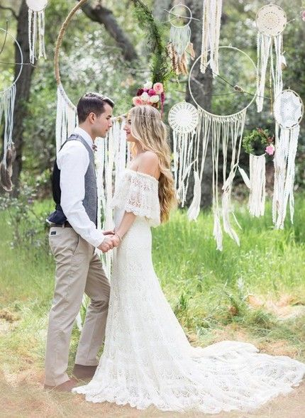 Молодожены на свадьбу Бохо стиля