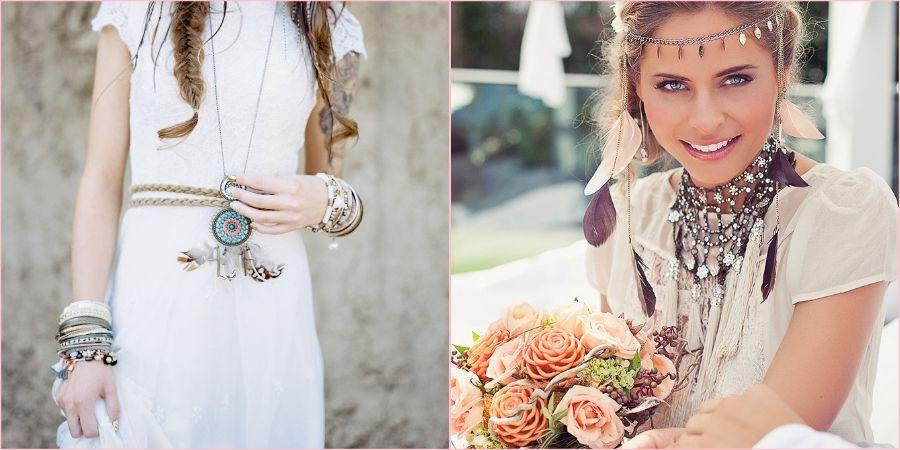 Этнический стиль украшений в образе девушки