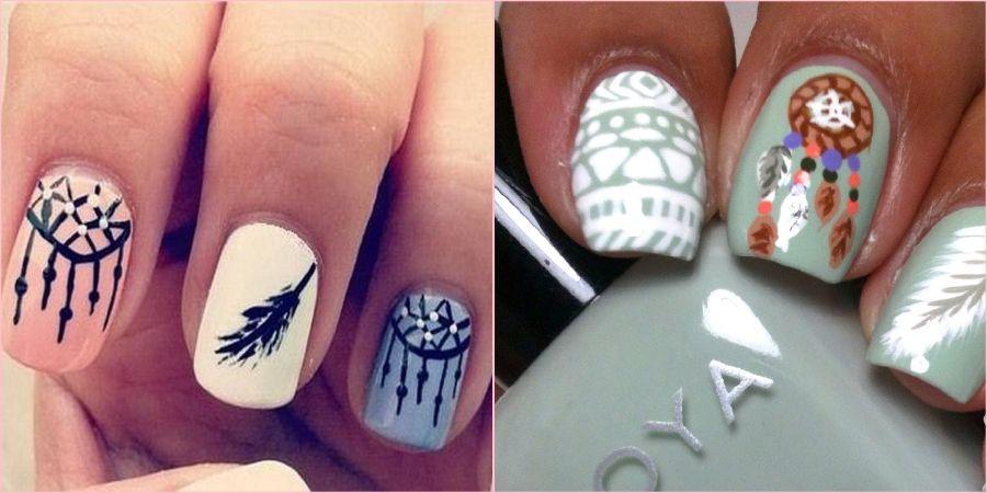 Отличный вариант сделать ногти с орнаментом