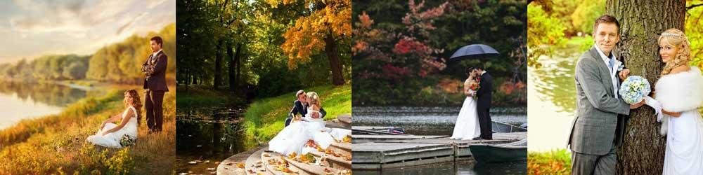 Свадебная фотоссесия около водоемов