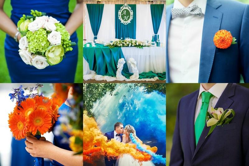 Идеи с зеленым и оранжевым