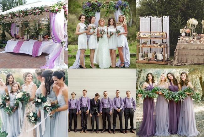 Оформление лавандовой тематической свадьбы на улице