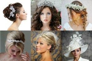 Популярные свадебные украшения на голову невесты фото