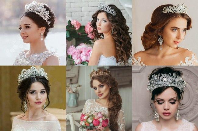 Классические свадебные короны
