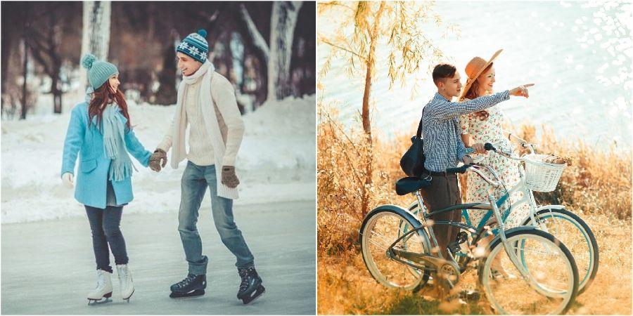 Прокатитесь на велосипеде или коньках