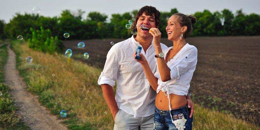 С простыми мыльными пузырями получится интересная фотография