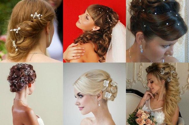 Фото свадебных шпилек для волос