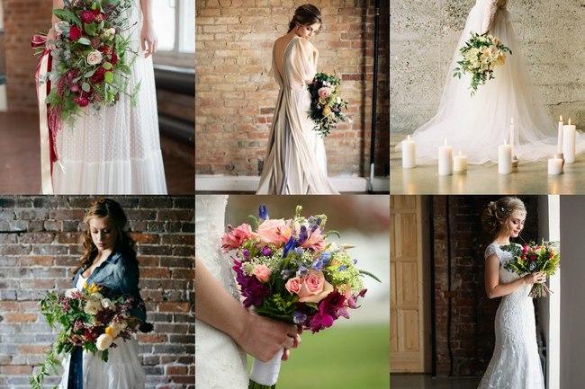 Образ невесты на свадьбу лофт