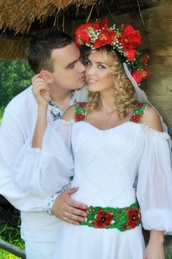 Свадьба в русском народном стиле в России