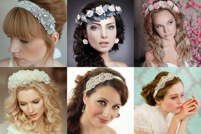 Свадебные ободки из цветов на свадьбу