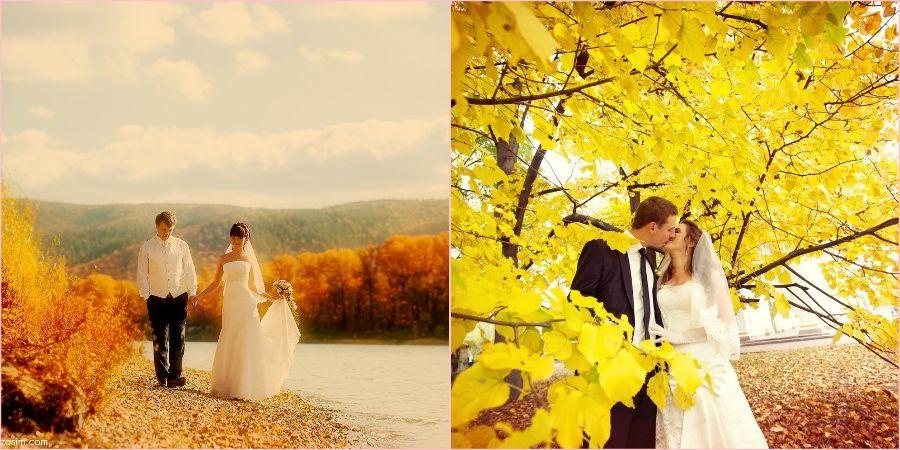 Влюбленные пары часто выбирают золотую осень