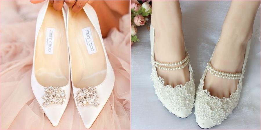Обувь должна соответствовать всему образу новобрачной