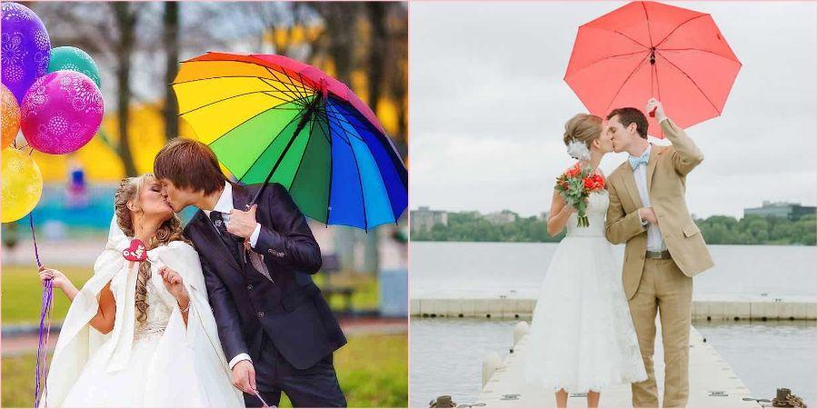 Используйте яркие зонтики в непогоду