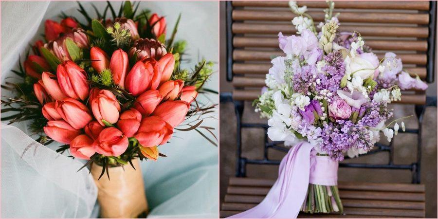 Красивые букетики из сезонных цветов