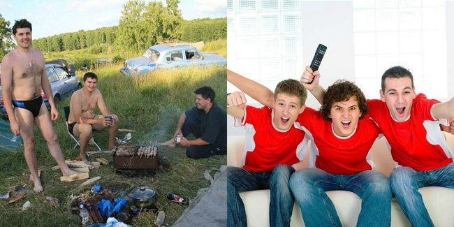 Холостяцкая вечеринка на природе или дома
