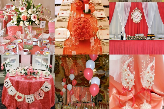 Свадебный декор в цвете