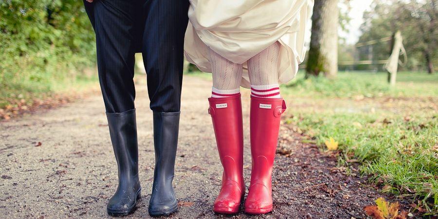 Жених и невеста в одном стиле