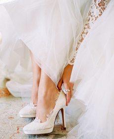 Вариант свадебной обуви невесты