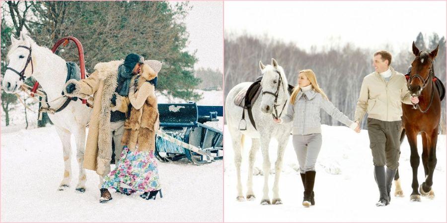 Устройте любовную историю верхом на лошадях