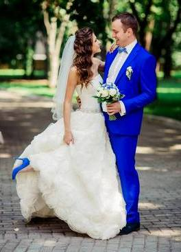 Элегантная синяя свадьба