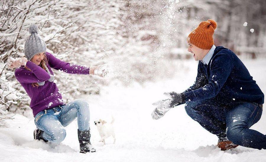 Поиграйте в снежки